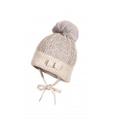 Jamiks: CAMERON Cepure ar dabīgo trušādas bumbuli