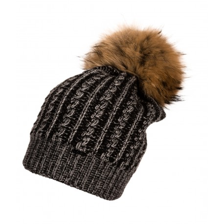 Jamiks: MONACO II Cepure ar dabīgo jenota ādas bumbuli