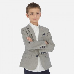 Mayoral: Printed linen blazer