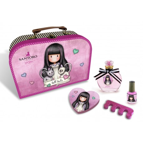 SANTORO: EDT 50 ml & Nail Accessories Beauty Case Tall Tails
