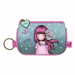 Santoro: Gorjuss Sparkle & Bloom - Keyring Zip Purse - Cherry Blossom