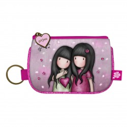 Santoro: Gorjuss Sparkle & Bloom - Keyring Zip Purse - You Can Have Mine