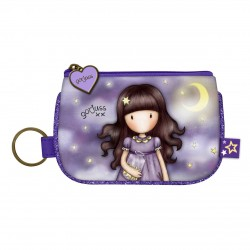 Santoro: Gorjuss Sparkle & Bloom - Keyring Zip Purse - Catch A Falling Star