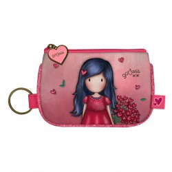 Santoro: Gorjuss Sparkle & Bloom - Keyring Zip Purse - Love Grows