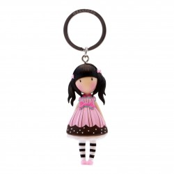 Santoro: Gorjuss - Moulded Key Ring - Sugar And Spice