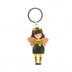 Santoro: Gorjuss - Moulded Key Ring - Bee-Loved (Just Bee-Cause)