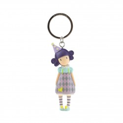 Santoro: Gorjuss - Moulded Key Ring - Pierrot