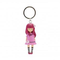 Santoro: Gorjuss - Moulded Key Ring - Cherry Blossom