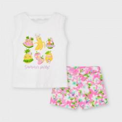 Mayoral: Printed shorts set
