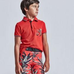 Mayoral: Short sleeve patterned polo