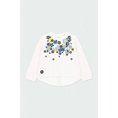Boboli: Fleece sweatshirt combined for baby girl
