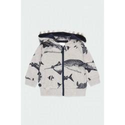 """BOBOLI: Fleece jacket """"sharks"""" for baby boy"""