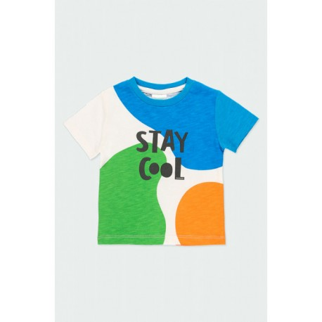 BOBOLI: Knit t-Shirt flame for baby boy