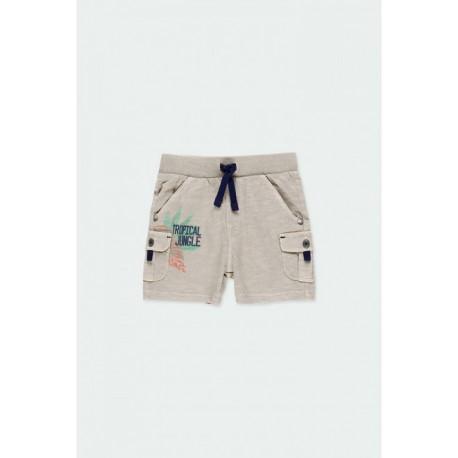 Boboli: Knit bermuda shorts flame for baby boy