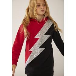 BOBOLI: Fleece dress hooded for girl