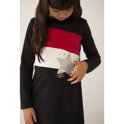 BOBOLI: Knit dress with stripes for girl