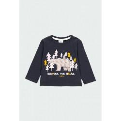 "BOBOLI: Knit t-Shirt ""bear"" for baby boy"