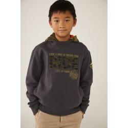 BOBOLI: Fleece with hood sweatshirt for boy