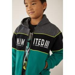 BOBOLI: Fleece jacket with stripes for boy